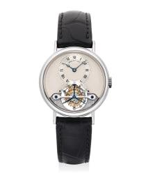 Breguet - A fine and attractive white gold touribillon wristwatch