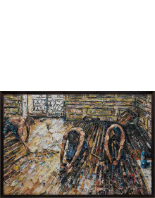 Vik Muniz - Floor Scrapers, after Gustave Caillebotte from Pictures of Magazines 2