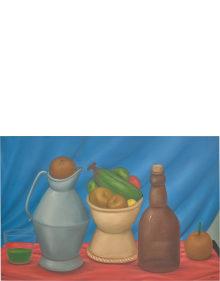 Fernando Botero - Still Life with Bottle