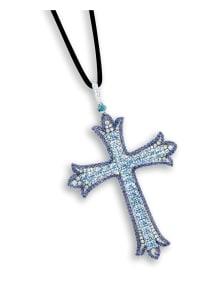 NoArtist - An Aquamarine, Sapphire and Diamond 'Cross' Pendant
