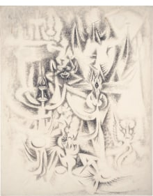 Wifredo Lam - Sur les traces (also known as Transformation)