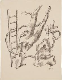 Fernand Léger - Composition à l'échelle