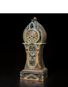 R. W. Martin & Brothers - Exceptional and monumental mantel clock case