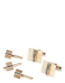 Tiffany & Co. - A Retro Gold and Sapphire Dress Set
