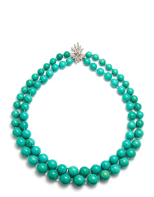 NoArtist - A Turquoise and Diamond Necklace