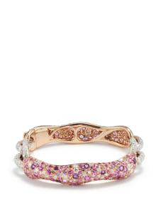 NoArtist - A Fancy Sapphire, Diamond and Fancy Diamond Bracelet