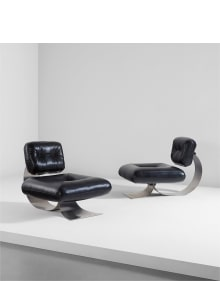 Oscar Niemeyer - Pair of lounge chairs