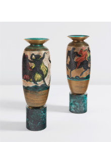 Jean Mayodon - Pair of large urns