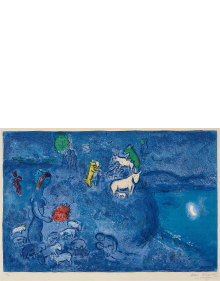 Marc Chagall - Le Printemps (Spring), plate 28 from Daphnis et Chloé