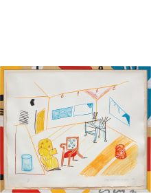 David Hockney - Conversation in the Studio, from Moving Focus Series