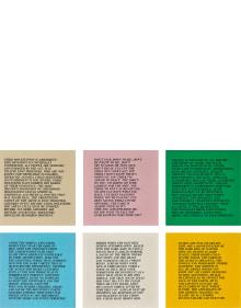 Jenny Holzer - Inflammatory Essays: 25 works