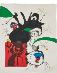 Joan Miró - Untitled, plate 5 from Espriu - Miró