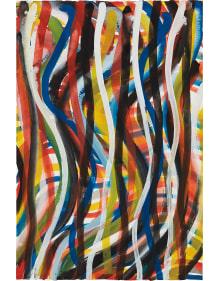 Sol LeWitt - Wavy Vertical Brushstrokes