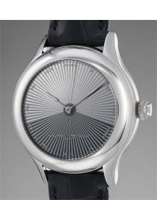 Laurent Ferrier - An exceptional and unique white gold tourbillon wristwatch with a hidden diamond set dial