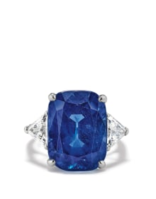 Cartier - A Sapphire, Diamond and Platinum Ring