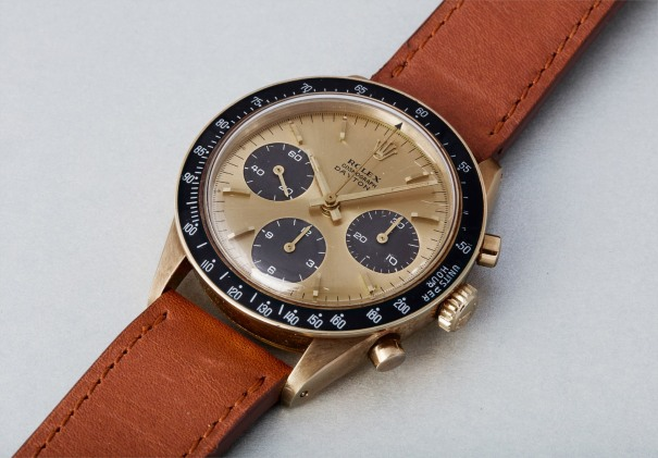 a4394e6c563 An extremely rare and highly attractive yellow gold chronograph wristwatch  with a champagne-copper colored