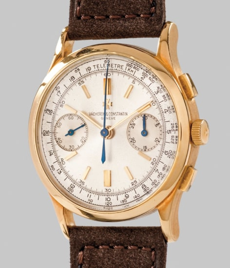 0cfa34a2d Vacheron Constantin - A rare and attractive yellow gold chronograph ...