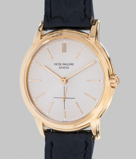 A very elegant yellow gold wristwatch with fluted lugs