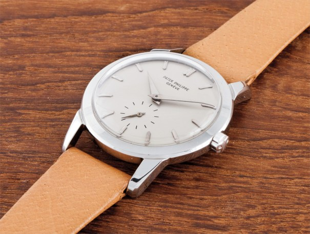 An extremely rare and highly attractive stainless steel wristwatch with unusual water-resistant type case
