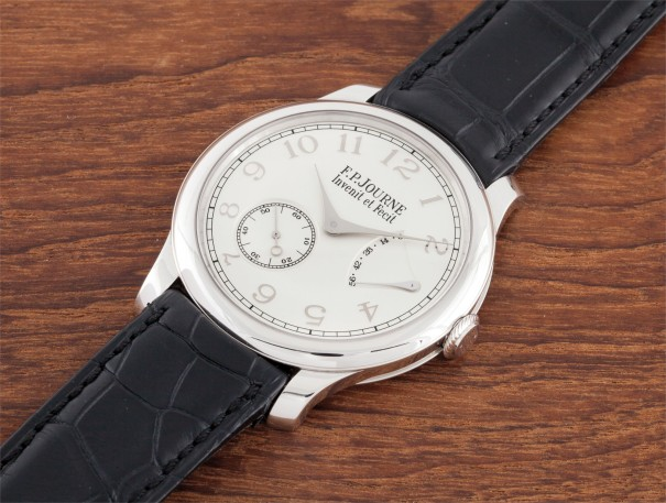 A fine and rare platinum wristwatch with power reserve