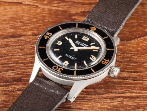 A very rare, unusual and large anti-magnetic divers wristwatch with centre seconds