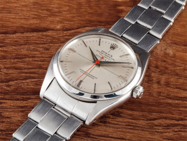 A fine and rare stainless steel wristwatch with bracelet and deadbeat seconds, retailed by Tiffany & Co
