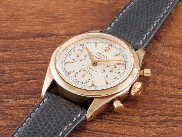 A rare and very attractive yellow gold chronograph wristwatch with bracelet, retailed by Tiffany & Co