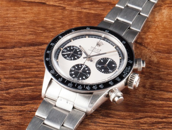 A very rare and attractive stainless steel chronograph wristwatch with bracelet and original box