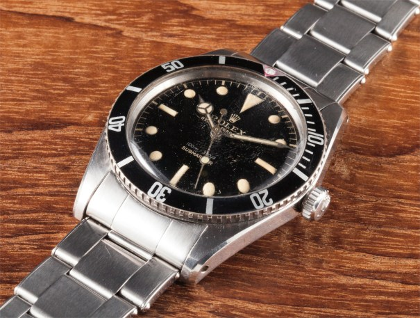 A fine and rare stainless steel wristwatch with centre seconds and bracelet