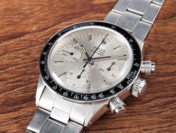 "An extremely rare and highly important stainless steel chronograph wristwatch with bracelet, ""THE OYSTER ALBINO"", formerly in the collection of Sir Eric Clapton"