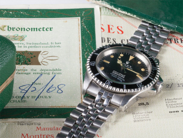 A rare and very attractive stainless steel wristwatch with bracelet, guarantee, rating certificate, box and swing tags