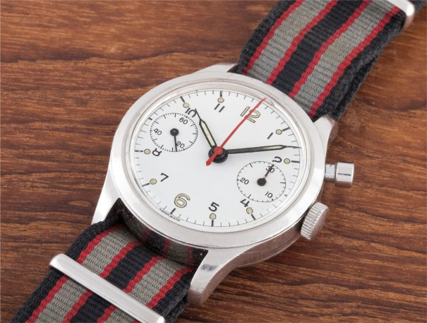 A rare stainless steel single button chronograph wristwatch, with hack feature, issued to the Royal Canadian airforce