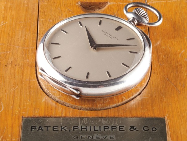 A very fine and large silver Observatory watch with wooden deck box
