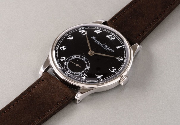 A rare and oversized stainless steel wristwatch with black dial and Breguet numerals