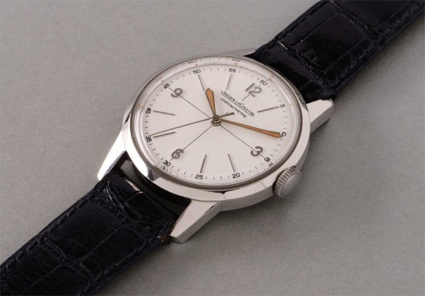 A rare and fine stainless steel chronometer wristwatch with center seconds