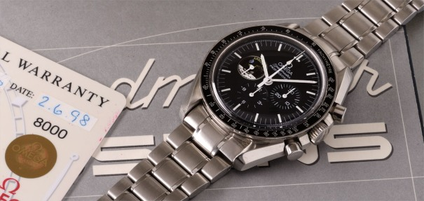 A limited edition stainless steel chronograph wristwatch made to commemorate the Apollo XI mission