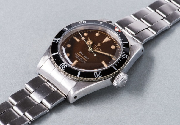 Rolex An Extremely Rare And Highly Attractive Stainless Steel