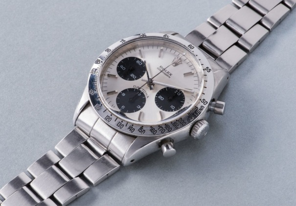 A very fine and rare stainless steel chronograph wristwatch with bracelet