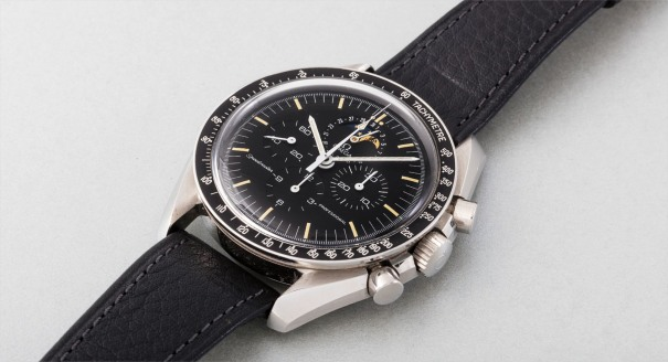A very attractive stainless steel chronograph wristwatch with date and moonphases