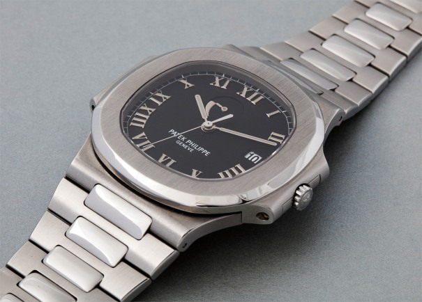 """A very attractive oversized stainless steel wristwatch with date, power reserve, bracelet and """"Lucky Thirteen"""" dial"""
