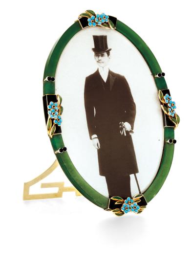 A Nephrite and Gem-set Photo Frame, Cartier, Circa 1915