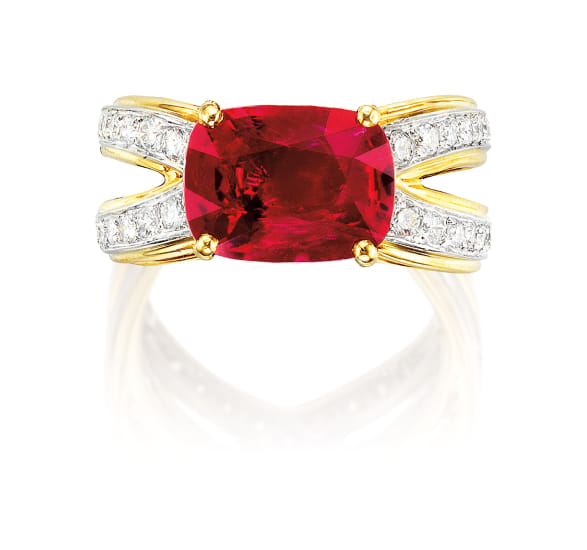 A Ruby and Diamond Ring, Carvin French