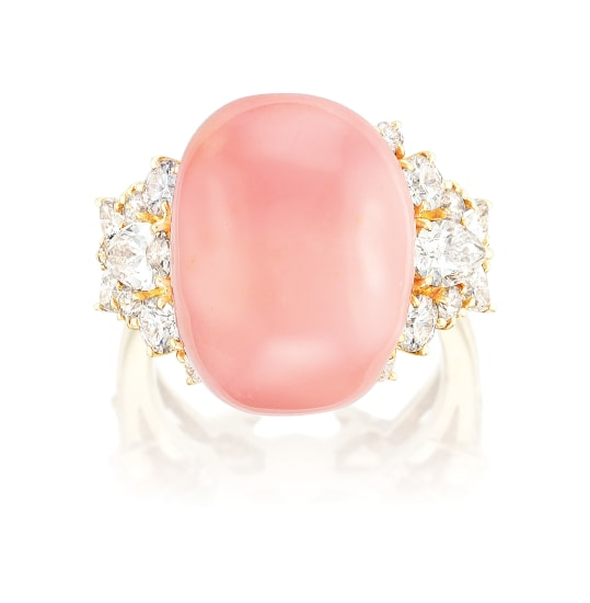 A Conch Pearl and Diamond Ring, Mikimoto