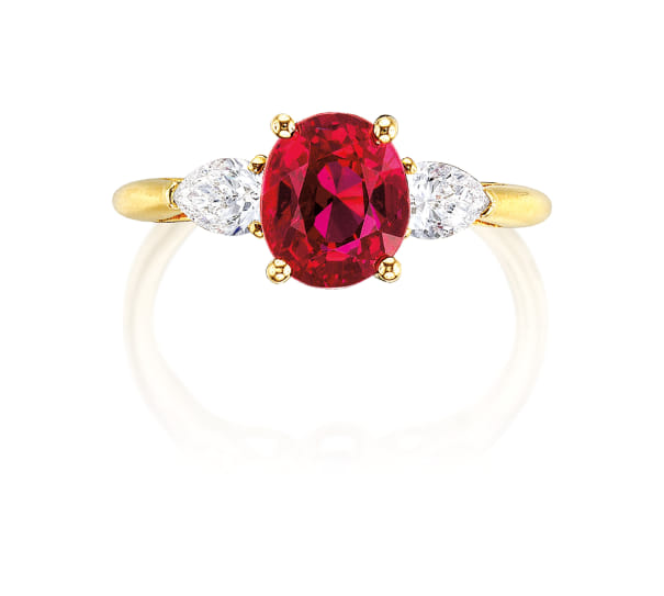 A Ruby and Diamond Ring, Monture Cartier