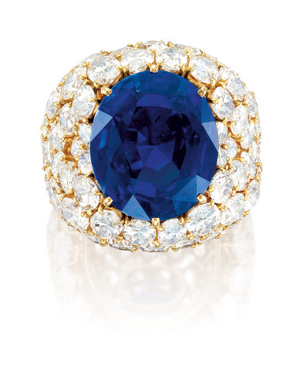 A Remarkable Sapphire and Diamond Ring, Alexandre Reza