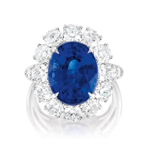 A Fine Sapphire and Diamond Ring, Van Cleef & Arpels