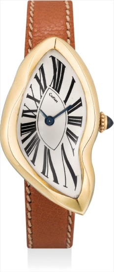 A lady's fine and very rare yellow gold wristwatch