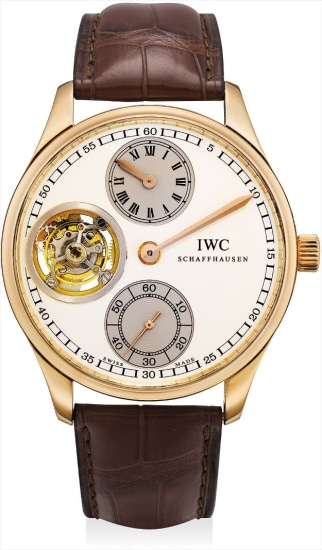 A fine and rare pink gold limited edition tourbillon wristwatch with regulator dial