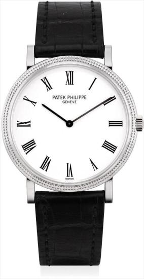 A fine white gold wristwatch