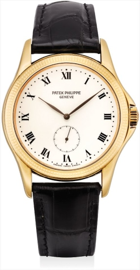 A fine yellow gold wristwatch with enamel dial